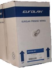 Сетевой кабель EUROLAN 5е UTP  4 пары,  коробка 305 м