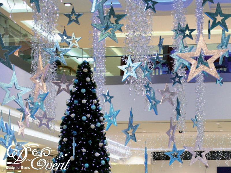 Новогоднее оформление зала своими руками фото