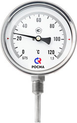 Термометр биметаллический коррозионностойкий радиальное присоединение
