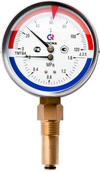 Термоманометр радиальный