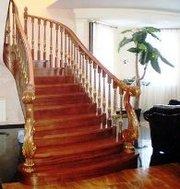 Реставрация деревянных лестниц дверей окон  деревянных домов