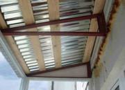 Ремонт крыши,  кровли балконного козырька в Алматы