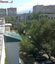 Ремонт балконного козырька в Алматы с установкой козырька в Алматы