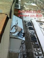 монтаж балконного козырька в алматы 87078106173