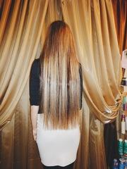 Наращивание волос в Алматы.
