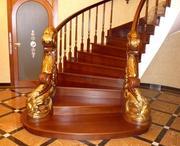 Художественно- декоративные балясины из дерева ручной работы