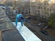 Монтаж козырька над балконом