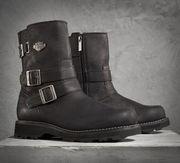 *ОРИГИНАЛ*НОВЫЕ*Harley-Davidson Womens Black Leather Mid Cut Boot