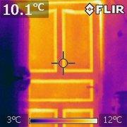 Диагностика тепловизором,  обнаружение скрытых протечек.