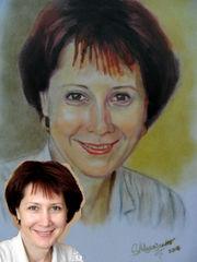 Художник-живописец пишет портреты с фото на заказ