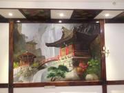 Роспись стен Барельефы декоративная штукатурка, леонардо, шелк, внутрянняя отделка