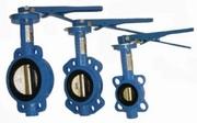 Затворы поворотные дисковые межфланцевые ручные «бабочка» DX