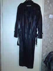 Продам кожаный мужской плащ 52- бу