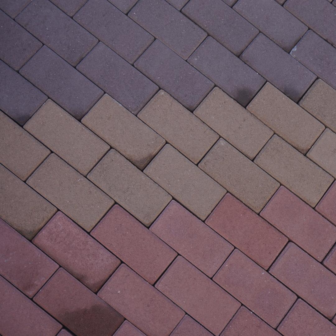 Брусчатка прямоугольная,  цветная (6 см)