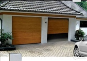 Секционные (гаражные) ворота,  с автоматикой и ручным приводом