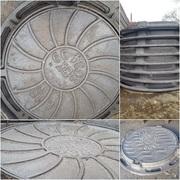 Люки чугунные канализационные ГОСТ 3634-99 тип Л
