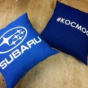 Печать логотипов на подушки для автомобилей. Нанесение на подушку для