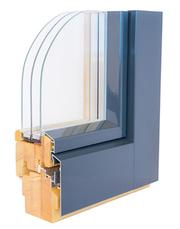 дерево -алюминиевые окна